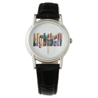 Eightball Dimensional Logo, Ladies Leather Watch