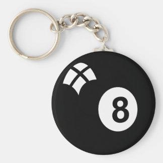 Eightball Basic Round Button Key Ring