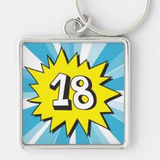 Eighteen today key ring