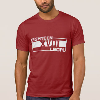 EIGHTEEN XVIII Legal 18th Birthday Graphic Tee