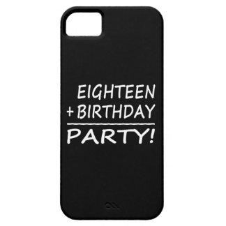 Eighteenth Birthdays : Eighteen + Birthday = Party iPhone 5 Cases
