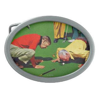 Eighteenth Hole Oval Belt Buckles