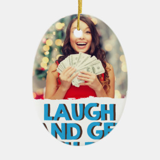 Eighth February - Laugh And Get Rich Day Ceramic Oval Decoration