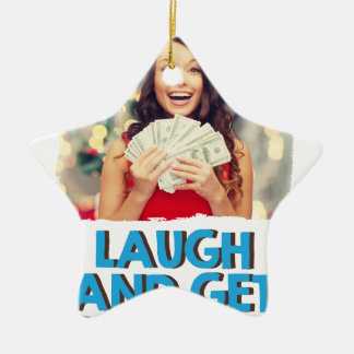 Eighth February - Laugh And Get Rich Day Ceramic Star Decoration