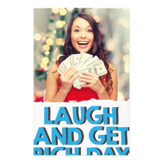 Eighth February - Laugh And Get Rich Day Stationery