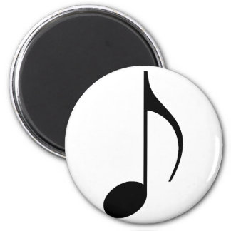 eighth note 6 cm round magnet