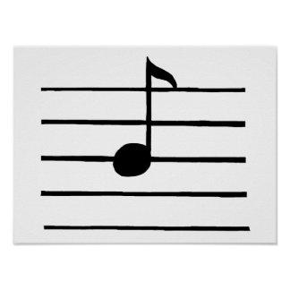 Eighth Note Poster