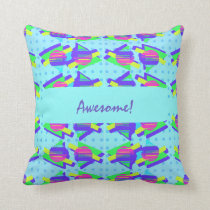 Eighties Memphis Customisable Triangle Patterns Cushion