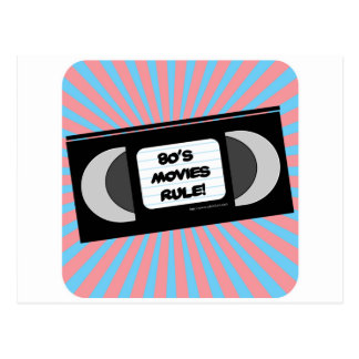 Eighties Movies Rule Postcard