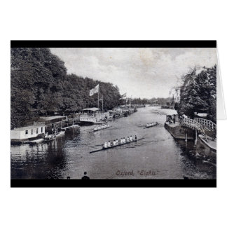 Eights Crew Rowing, Oxford England Vintage Greeting Card