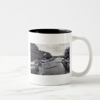 Eights Crew Rowing, Oxford England Vintage Two-Tone Coffee Mug