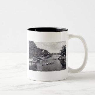 Eights Crew Rowing, Oxford England Vintage Two-Tone Mug