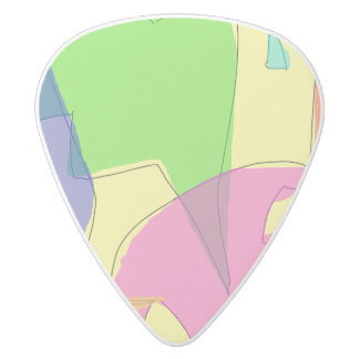 Eighty Percent White Delrin Guitar Pick