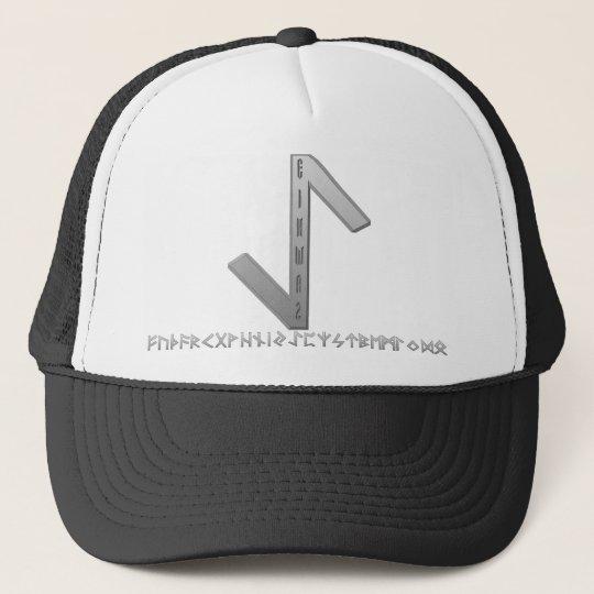 Eihwaz Rune grey Trucker Hat