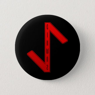 Eihwaz Rune red 6 Cm Round Badge