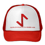 Eihwaz Rune red Trucker Hats