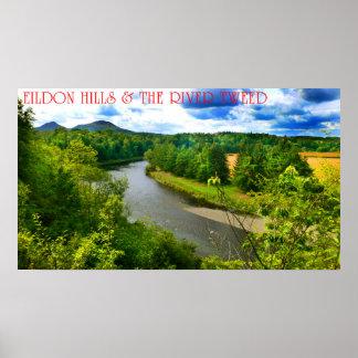 eildon hills & river tweed poster