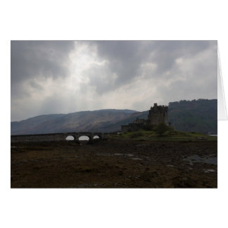 Eilean Donan Castle along with a stone bridge Greeting Card