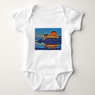 Eilean Donan Castle at night Baby Bodysuit