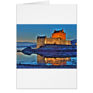 Eilean Donan Castle at night Cards