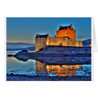 Eilean Donan Castle at night Card