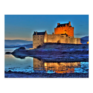 Eilean Donan Castle at night Post Cards