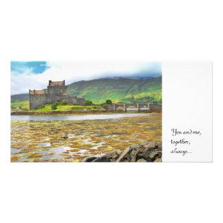 Eilean Donan Castle colour, Custom Photo Card