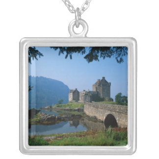 Eilean Donan Castle, Highlands, Scotland 2 Silver Plated Necklace
