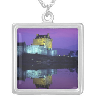 Eilean Donan Castle, Highlands, Scotland 4 Silver Plated Necklace