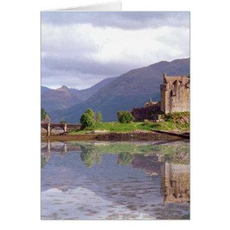 Eilean Donan castle reflection Greeting Card
