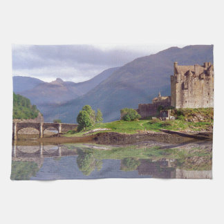Eilean Donan castle reflection Towel