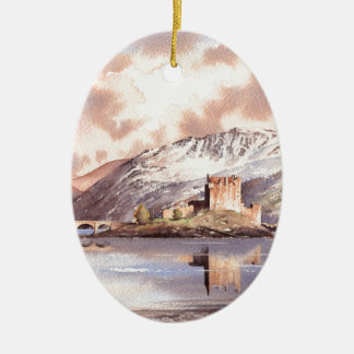 """Eilean Donan Castle"" Scotland Christmas Ornament"