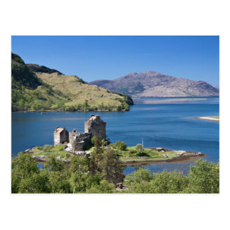Eilean Donan Castle under a blue sky Postcard