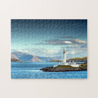Eilean Musdile Lighthouse Scotland Scenic View Jigsaw Puzzle