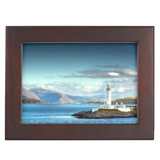Eilean Musdile Lighthouse Scotland Scenic View Keepsake Box