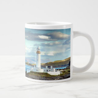 Eilean Musdile Lighthouse Scotland Scenic View Large Coffee Mug