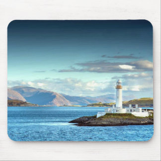 Eilean Musdile Lighthouse Scotland Scenic View Mouse Pad