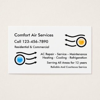 Eimple Air Conditioning Business Cards