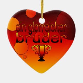 Ein Glorreicher Bruder Germany Flag Colors Ceramic Heart Decoration