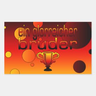 Ein Glorreicher Bruder Germany Flag Colors Rectangular Sticker