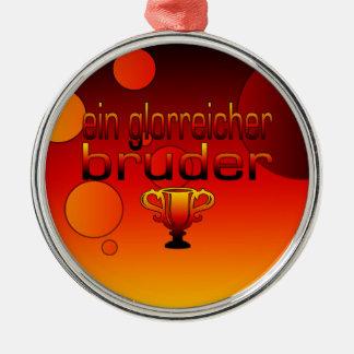 Ein Glorreicher Bruder Germany Flag Colors Silver-Colored Round Decoration