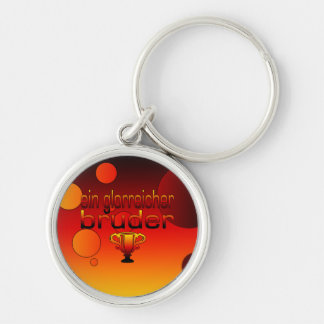 Ein Glorreicher Bruder Germany Flag Colors Silver-Colored Round Key Ring