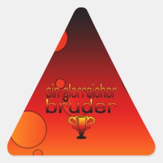 Ein Glorreicher Bruder Germany Flag Colors Triangle Sticker