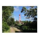 Ein Leuchtturm vor dem Haus Postkarten