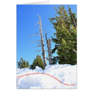 Ein Winter-Szene für Weihnachten 2 Deutsch Card