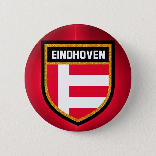 Eindhoven Flag 6 Cm Round Badge