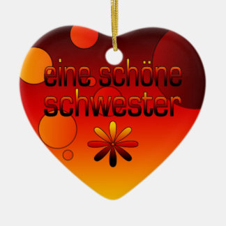 Eine Schöne Schwester Germany Flag Colors Pop Art Christmas Ornament