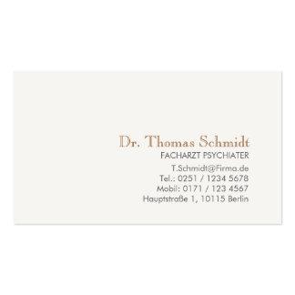 Einfache und elegante berufliche Psychiater Pack Of Standard Business Cards