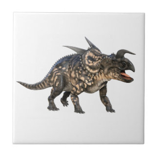 Einiosaurus Standing it's Ground Small Square Tile