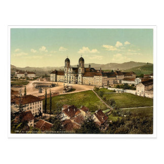 Einsiedeln, schoolhouse and monastery, Lake Lucern Postcard